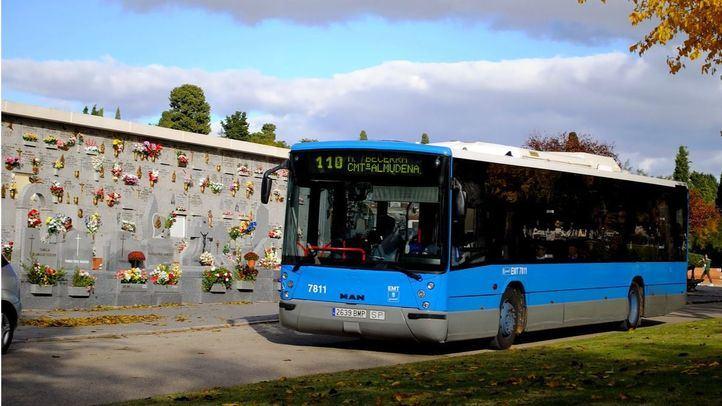 Refuerzo de los autobuses de la EMT para ir a los cementerios