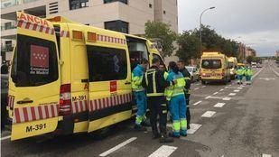 Los sanitarios han trasladado a los afectados a los hospitales de La Paz y Ramón y Cajal.