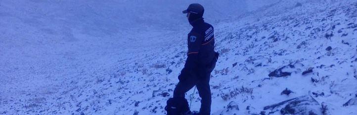 La nieve hace su aparición en la sierra madrileña