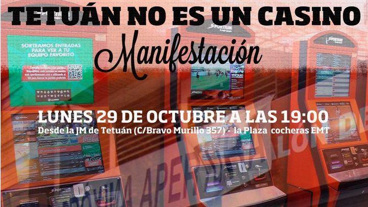 Cartel que convoca la manifestación en Tetuán.