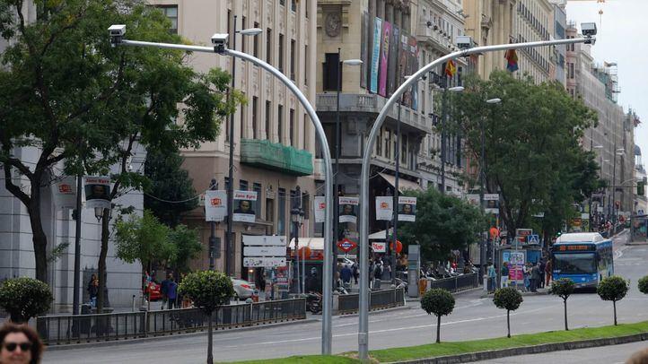 El sistema de cámaras de vigilancia de Madrid Central ya está instalado.