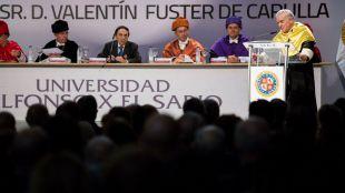 El cardiólogo Valentín Fuster ya es doctor honoris causa por la Universidad Alfonso X el Sabio