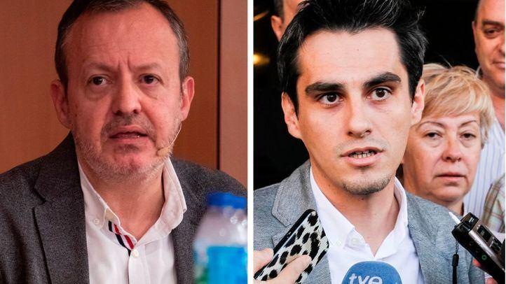 Los diputados en la Asamblea Alberto Reyero (Cs) y Enrique Rico (PSOE)