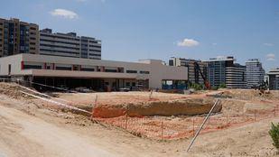 Obras de ampliación del colegio Alfredo Di Stefano en Valdebebas.