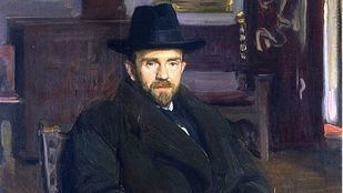 Retrato de Pío Baroja por Sorolla en 1914.