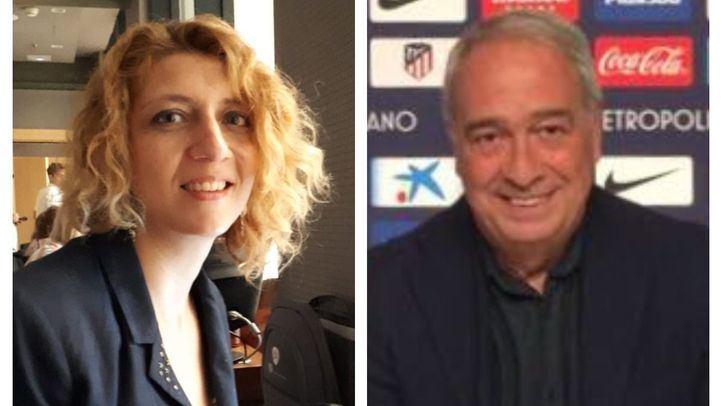 Los periodistas Nuria Platón y Luis Gómez.