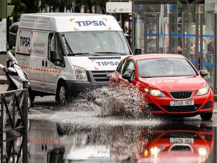 La lluvia 'ahoga' los túneles y colapsa Madrid con la vuelta del mal tiempo