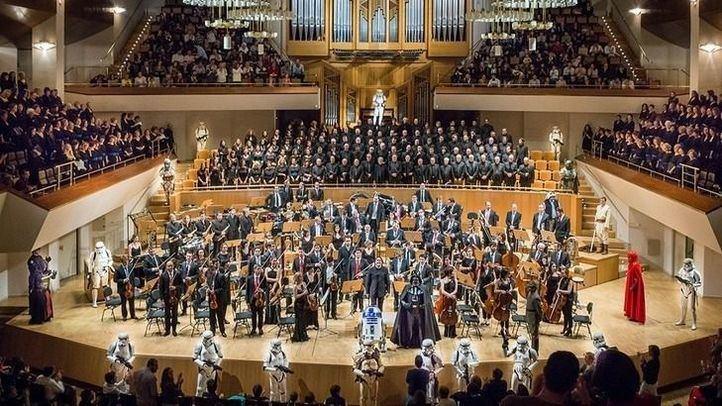 Las tropas imperiales y rebeldes acompañarán a la filarmonía de Madrid en el Auditorio Nacional.