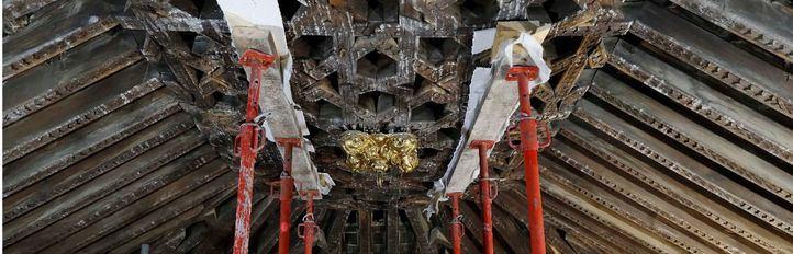 Santa María la Blanca recupera su artesonado del siglo XV