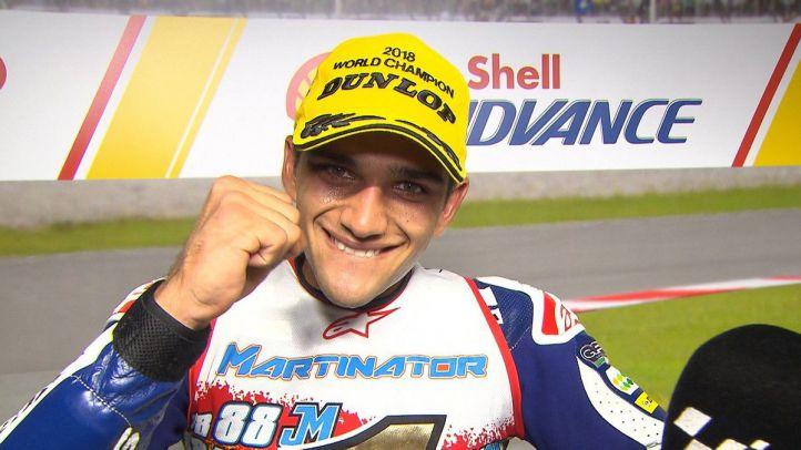 El madrileño Jorge Martín, campeón del mundo en Moto3