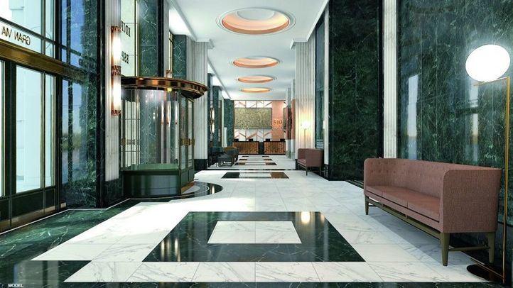 Recreación virtual del próximo hotel Riu en el Edificio España.
