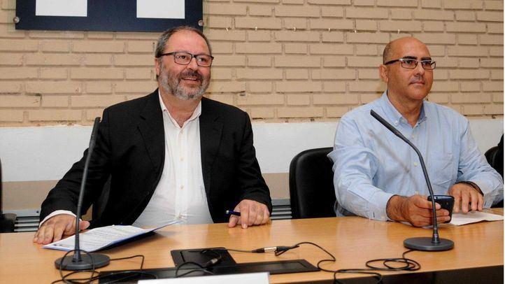 Javier Barbero, delegado del Área de Seguridad y Emergencias, y Andrés Serrano, hasta ahora director de la Policía.