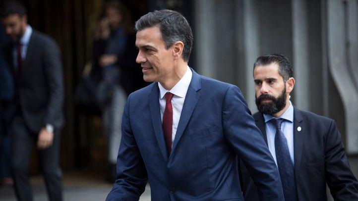 Pedro Sánchez, presidente del Gobierno en el acto de conmemoración del 40º aniversario de la Constitución.