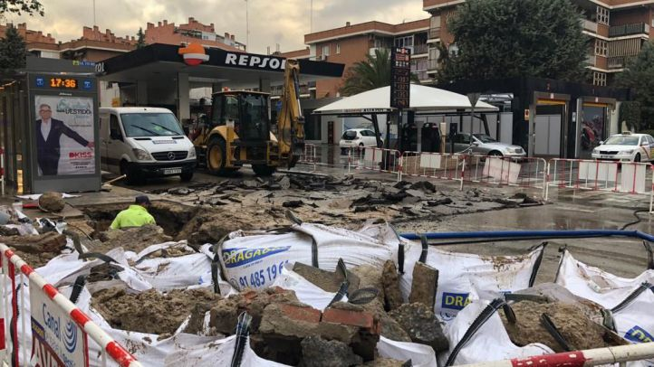 Tercer socavón en una semana en Madrid, esta vez en Barajas