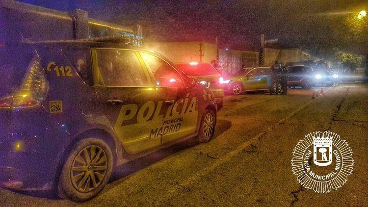 Detenidas dos personas en la Cañada Real por conducir un coche robado