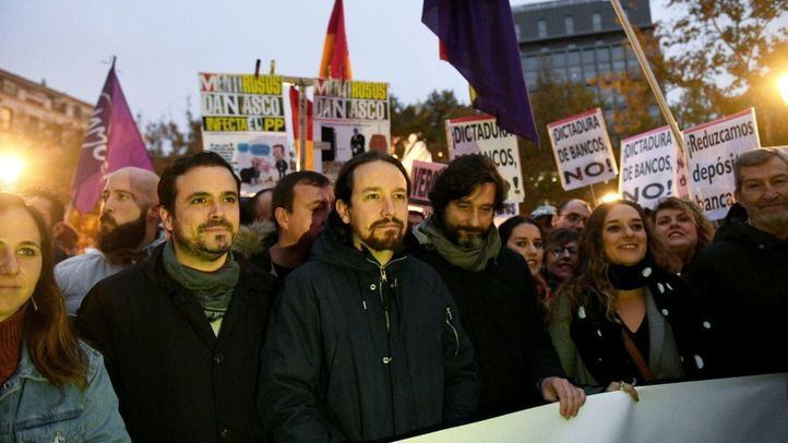 Pablo Iglesias y Alberto Garzón, asistieron a la manifestación.