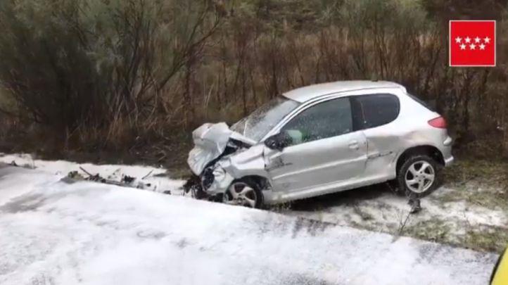 Cuatro heridos en un aparatoso accidente en la M-501