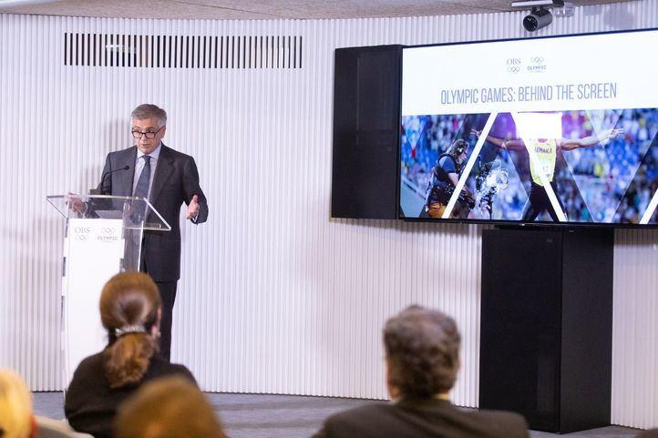 Samaranch inaugura la exposición 'Los Juegos Olímpicos: Detrás de la Pantalla'