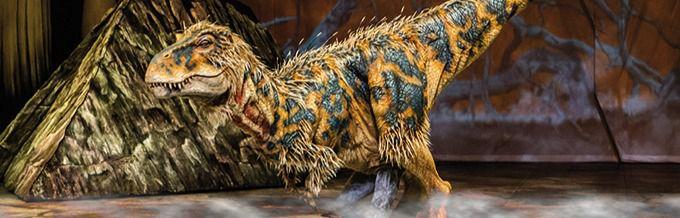 Uno de los dinosaurios del espectáculo que se podrá ver en el WiZink Center.