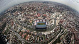Estadio Vicente Calderón, desde el aire