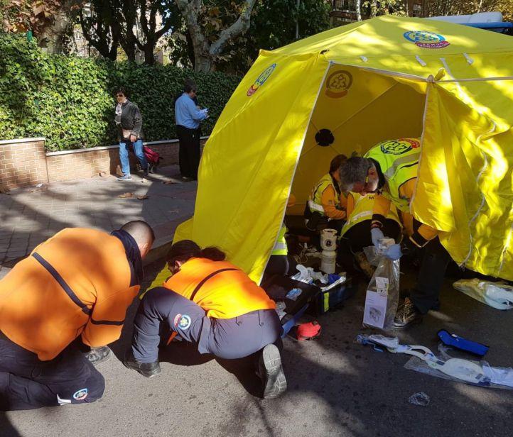 Grave tras ser atropellado por un autobús en Barajas