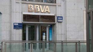 Sucursal del banco BBVA.