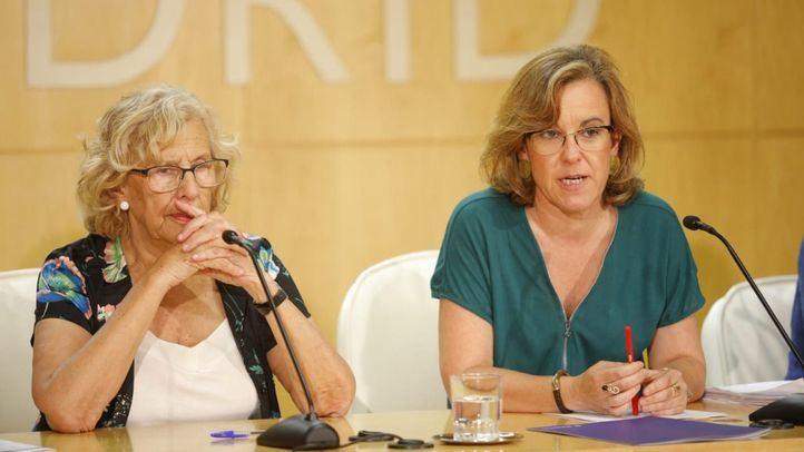 Manuela Carmena y Purificación Causapié.