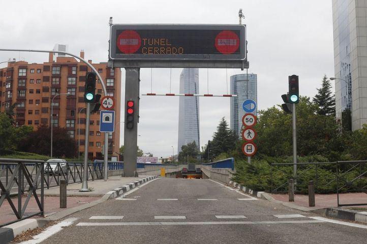 El túnel de Pío XII fue cerrado al tráfico hace unos meses.