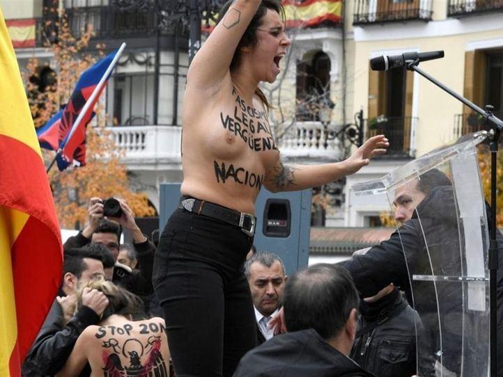 Detenido un miembro de Falange tras un altercado con Femen