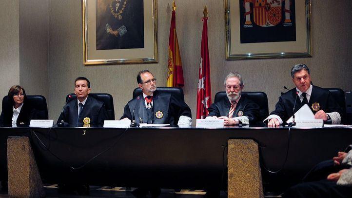 Mesa de los jueces del TSJM, en una foto de archivo.