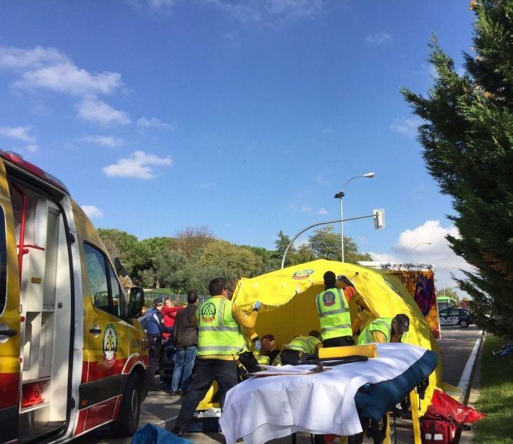 Fallece el menor atropellado junto al parque Juan Carlos I