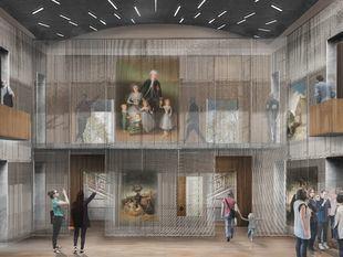 """Recreación de la """"Caja de Intercambios"""" del nuevo museo de El Capricho."""
