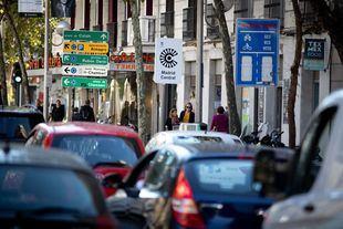 Señalética de Madrid Central.