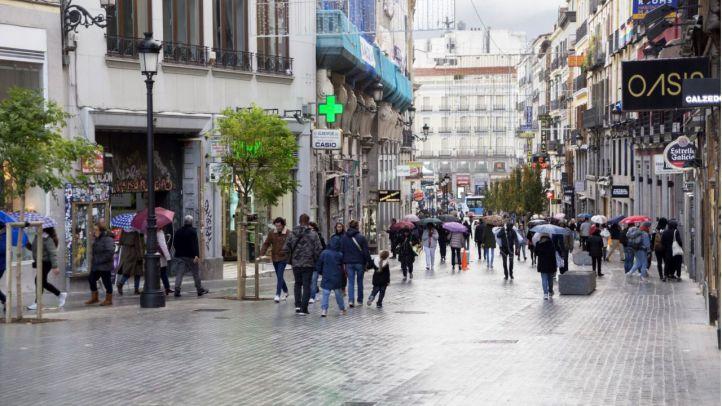 La calle Carretas, abierta a los peatones