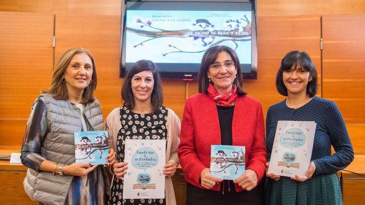 El reino de Keka y Keiko está escrito por Laura Rodríguez y Mª Ángeles de la Cruz, esta última, psicóloga de menores del Punto Municipal del Observatorio Regional de la Violencia de Género de la ciudad.