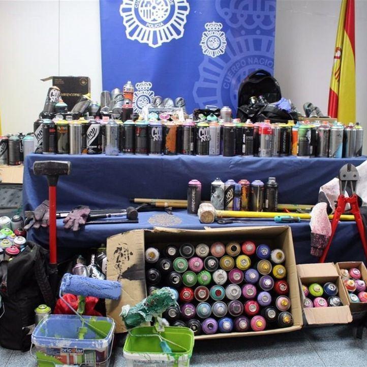 Detenidos ocho grafiteros por los últimos incidentes en Metro