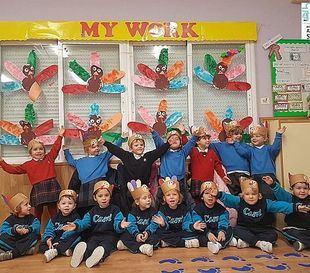 Los más pequeños del colegio celebraron también el Día de Acción de Gracias.