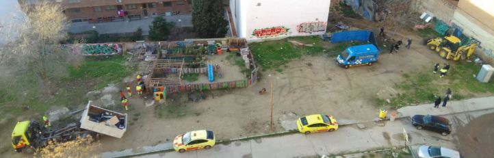 El 'asentamiento itinerante' de Tetuán, desalojado