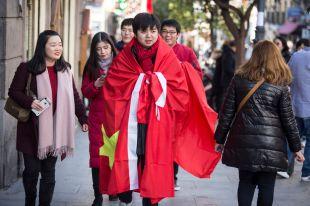 La visita del presidente chino colapsa Madrid