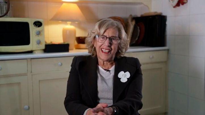 Carmena, en el vídeo de bienvenida a su plataforma Más Madrid.