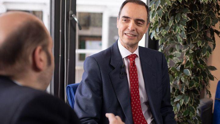 José Antonio Poveda, secretario regional de Escuelas Católicas de Madrid, en un momento de la entrevista.