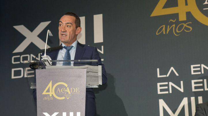 Juan Santiago, presidente de ACADE, en su intervención durante la XIII de la enseñanza privada