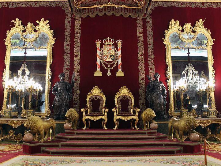 Salón del trono del Palacio Real, con un nuevo acceso.