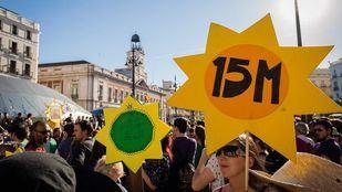 Manifestación por el cuarto aniversario del 15-M.