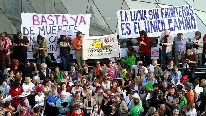 Manifestación por el quinto aniversario del 15-M.