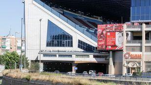 Túneles de la M-30 a la altura del estadio Vicente Calderón.