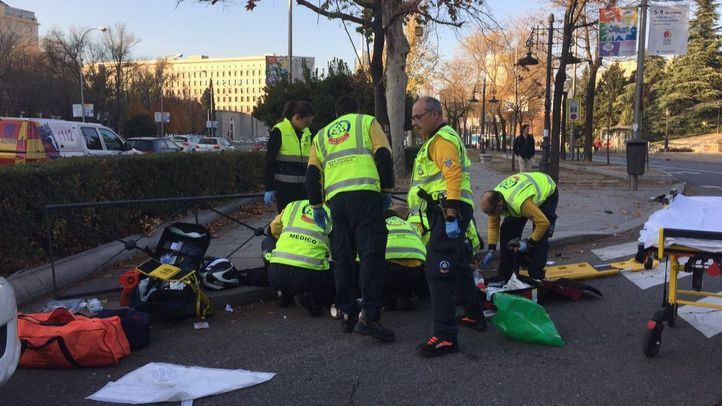 Accidente en el Paseo de la Castellana.
