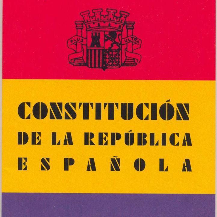 Cubierta de la Constitución Republicana de 1931.