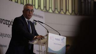 Carlos Izquierdo, consejero de Medio Ambiente de la Comunidad de Madrid, en un desayuno informativo en el hotel The Westin Palace.