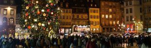 Mercadillo navideño de la plaza Kléber en Strasbourg.